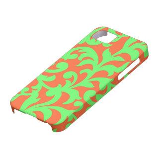 Swirl Green Orange Case-Mate iPhone 5 Case