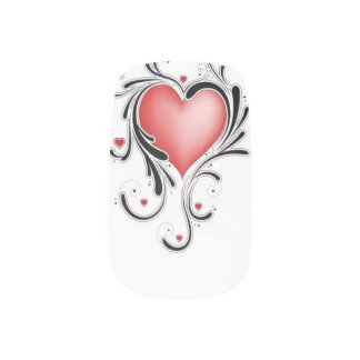 Swirl Heart Nail Art Design