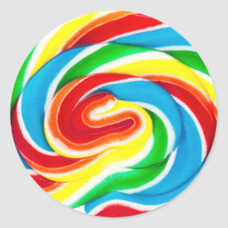 swirl lollipop candy sticker