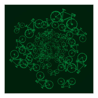 swirl of bicycles poster