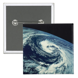Swirl of Clouds over the Earth 2 Inch Square Button