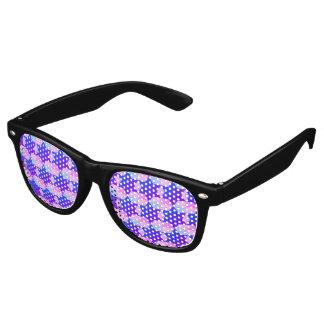 Swirl of patterns retro sunglasses