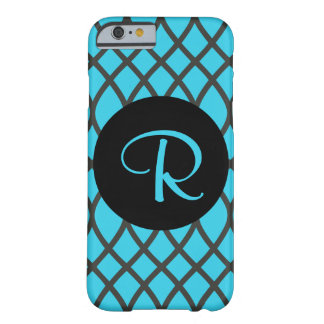 Swirl Pattern in Blue with Initial phone Case