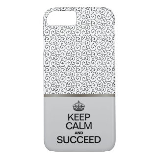 Swirl Pattern / Keep Calm and Succeed Case-Mate iPhone Case