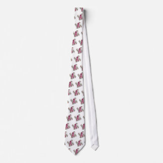 Swirl/Pink Ribbon Tie