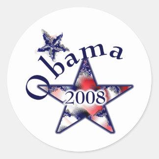 Swirl Star Obama Sticker