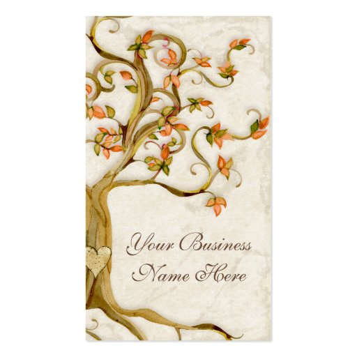Swirl Tree Roots Antique Tan Professional Business Business Cards