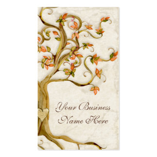 Swirl Tree Roots Antique Tan Professional Business Pack Of Standard Business Cards