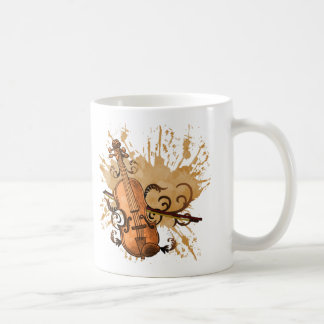 Swirl Violin Coffee Mug