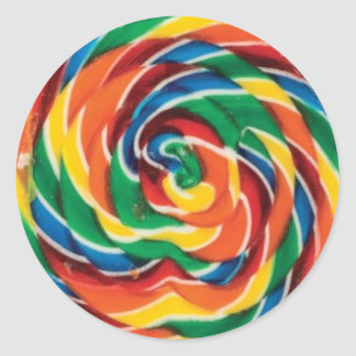 Swirled Lollipop Classic Round Sticker