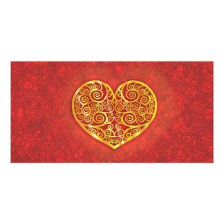 Swirled Love Custom Photo Card