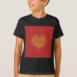 Swirled Love Gold T-Shirt