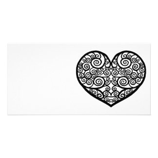 Swirled Love Photo Card Template