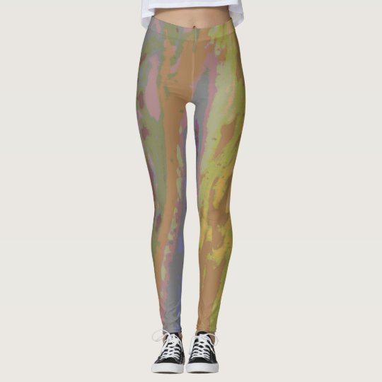 Swirled Spots and Stripes in Neutral Pastels Leggings