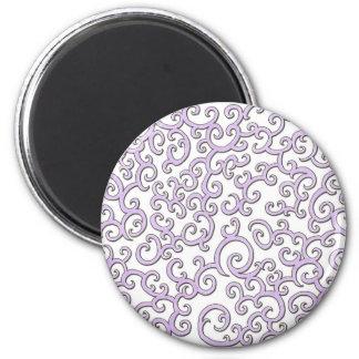 Swirley Purple Doodle Magnet