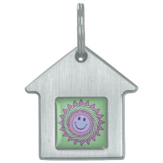 SWIRLEY SMILEY PET TAGS