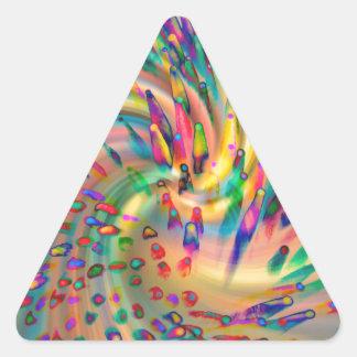 Swirligigs Triangle Sticker