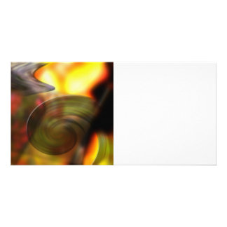 Swirling Abstract of Colors Personalized Photo Card