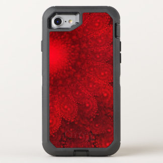 Swirling Abstract Red Daisy OtterBox Defender iPhone 8/7 Case