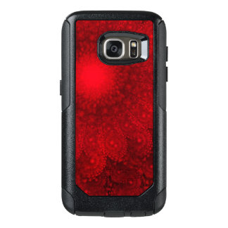 Swirling Abstract Red Daisy OtterBox Samsung Galaxy S7 Case