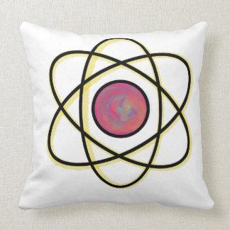Swirling Atom Throw Pillow