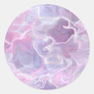 Swirling Batik Round Sticker