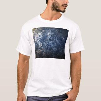 Swirling Blue Clouds of Planet Jupiter Juno Cam T-Shirt