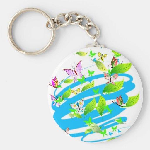 Swirling Butterflies Key Chain