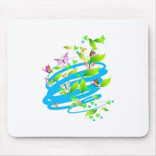 Swirling Butterflies Mousepad