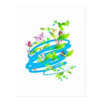 Swirling Butterflies Postcard