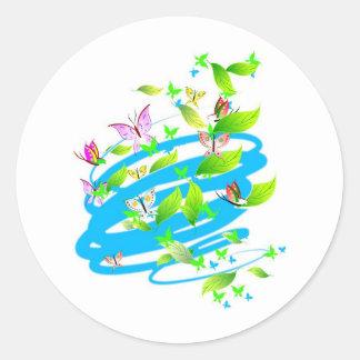 Swirling Butterflies Round Sticker