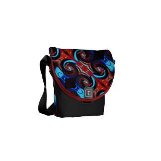 Swirling colors 02.3.45 red commuter bags