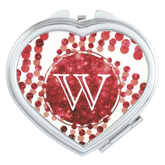 Swirling Dots in Sparkling Garnet Red Makeup Mirror