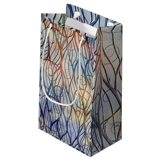 Swirling Embossed Lines Small Gift Bag