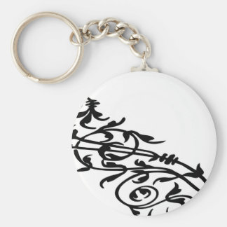 Swirling Floral Keychain