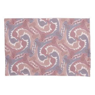 Swirling Hares Tesselation soft Purple Pillowcase