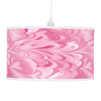 Swirling Marbled Shades of Pink Pendant Lamp