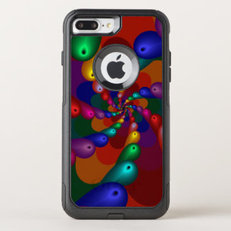 Swirling Metallic Drops of Color OtterBox Commuter iPhone 8 Plus/7 Plus Case
