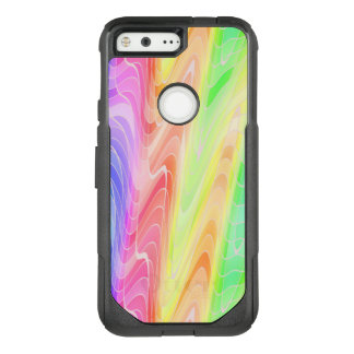 Swirling Pastel Rainbow Abstract OtterBox Commuter Google Pixel Case