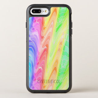 Swirling Pastel Rainbow Abstract OtterBox Symmetry iPhone 8 Plus/7 Plus Case