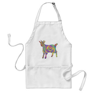 Swirling psychedelic Goat Colourful Animal Art Standard Apron