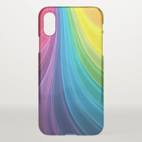 Swirling Rainbow Abstract iPhone X Case