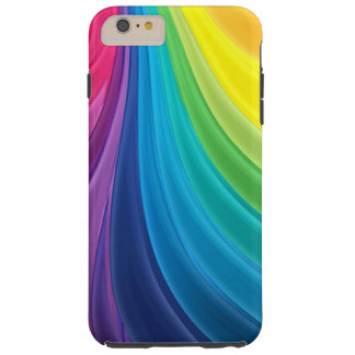 Swirling Rainbow Abstract Tough iPhone 6 Plus Case