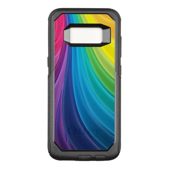 Swirling Rainbow OtterBox Commuter Samsung Galaxy S8 Case