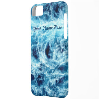 Swirling Sea Personalized iPhone 5C Covers