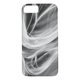 swirling smoke design on black iPhone 8/7 case