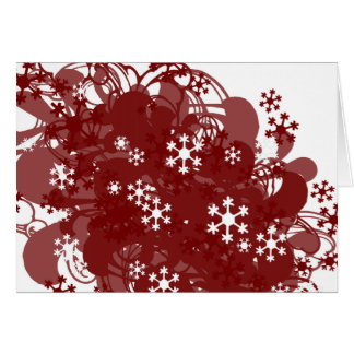Swirling Snow Red Card