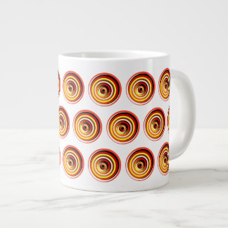Swirling Sunset Orbs Color Vortex Large Coffee Mug