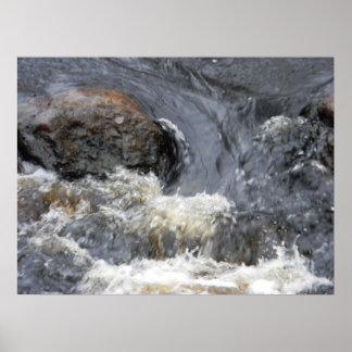 Swirling Taunton River Poster