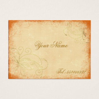 swirling vintage floral business card